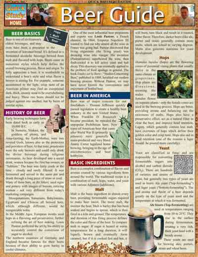 Beer Guide Laminated Reference Guide By Barcharts, Inc. (COM)